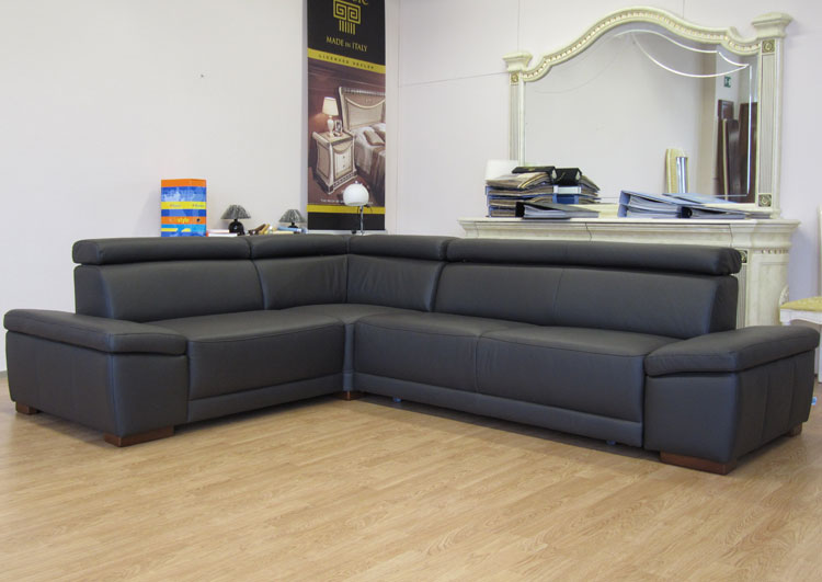 luxus sofa couch ecke echt ledergarnitur relaxfunktion poco italia italien ebay. Black Bedroom Furniture Sets. Home Design Ideas