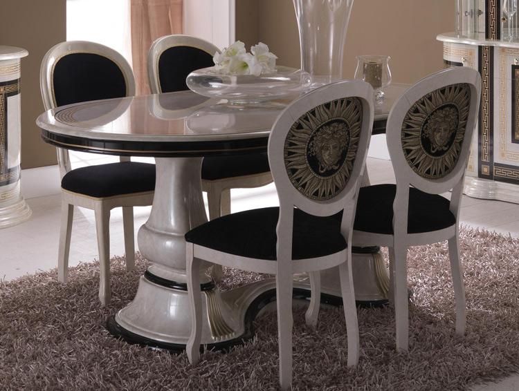 esstisch oval medusa von phidias dekor luxus stilm bel italien design beige ebay. Black Bedroom Furniture Sets. Home Design Ideas