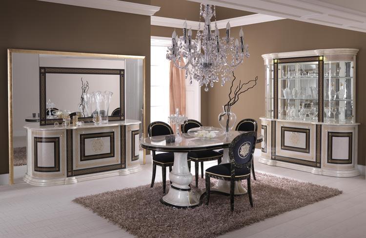 Couchtisch Hochglanz Lackiert Gold Dekor Luxus Stilmbel Italien