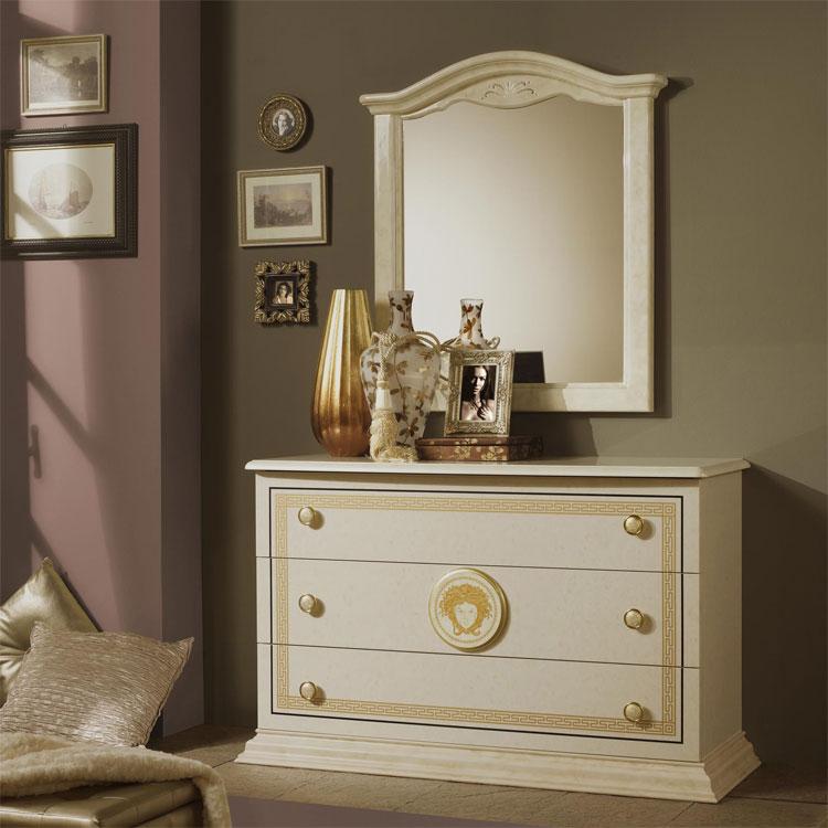 komplett schlafzimmer hochglanz elfenbein farbe medusa. Black Bedroom Furniture Sets. Home Design Ideas