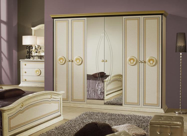 exklusives schlafzimmer dekor stilm bel italien hochglanz. Black Bedroom Furniture Sets. Home Design Ideas