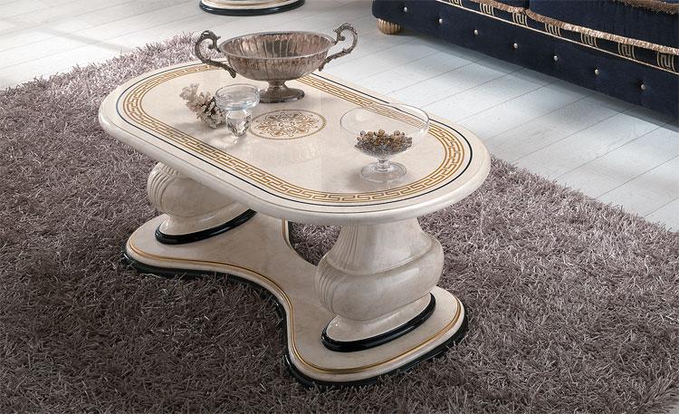 couchtisch hochglanz lackiert gold dekor luxus stilm bel italien beige design ebay. Black Bedroom Furniture Sets. Home Design Ideas