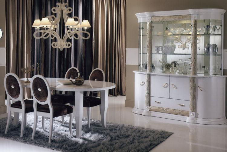 Wohnzimmer Weis Gold : Design Wohnzimmer Esszimmer Vitrine Italien ...