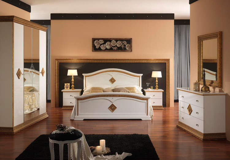 komplett schlafzimmer stilm bel aus italien luxus hochglanz schick ebay. Black Bedroom Furniture Sets. Home Design Ideas