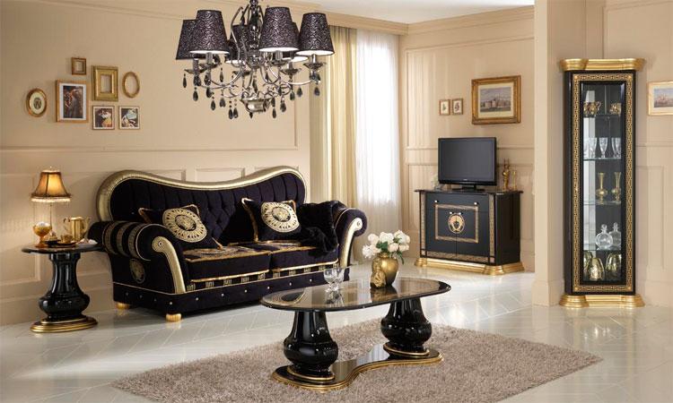 wohnzimmer oro nero luxus stilm246bel italien schwarz gold