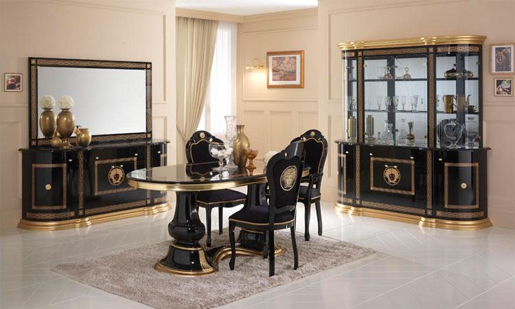 Wohnzimmer Schwarz Gold