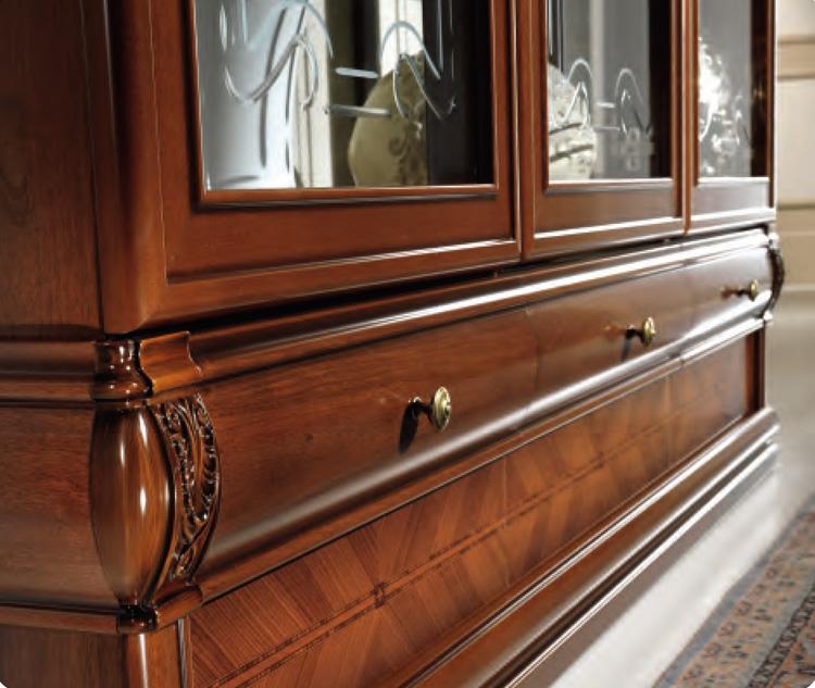 lehnstuhl gepolstert klassische stilm bel italien nussbaum hochglanz ebay. Black Bedroom Furniture Sets. Home Design Ideas