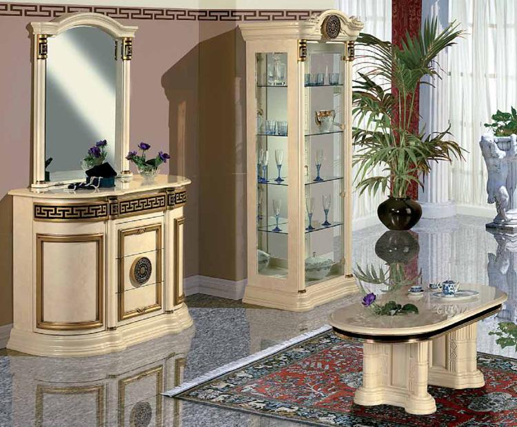 Exklusive anrichte sideboard mit spiegel hochglanz luxus stilm bel italien ebay - Stilmobel italien ...