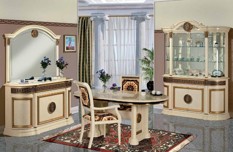 Wohnzimmer esszimmer stil klassik italien vitrine anrichte ...