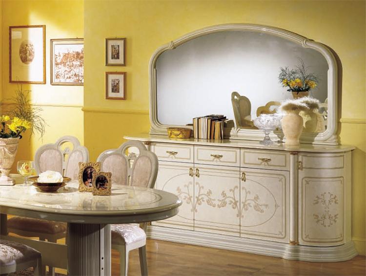 exklusive anrichte sideboard 5tr klassische italienische m bel hochglanz schick ebay. Black Bedroom Furniture Sets. Home Design Ideas