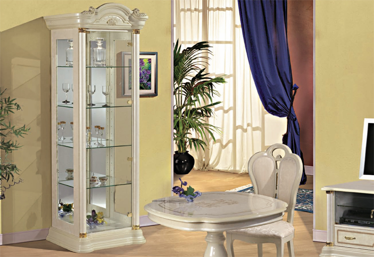 exklusive glasvitrine 1 t rig stilm bel italien klassik hochglanz vip luxus ebay. Black Bedroom Furniture Sets. Home Design Ideas