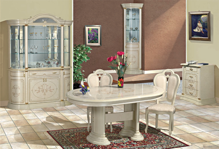 exklusive anrichte sideboard 5tr klassische italienische m bel hochglanz schick ebay. Black Bedroom Furniture Sets. Home Design Ideas