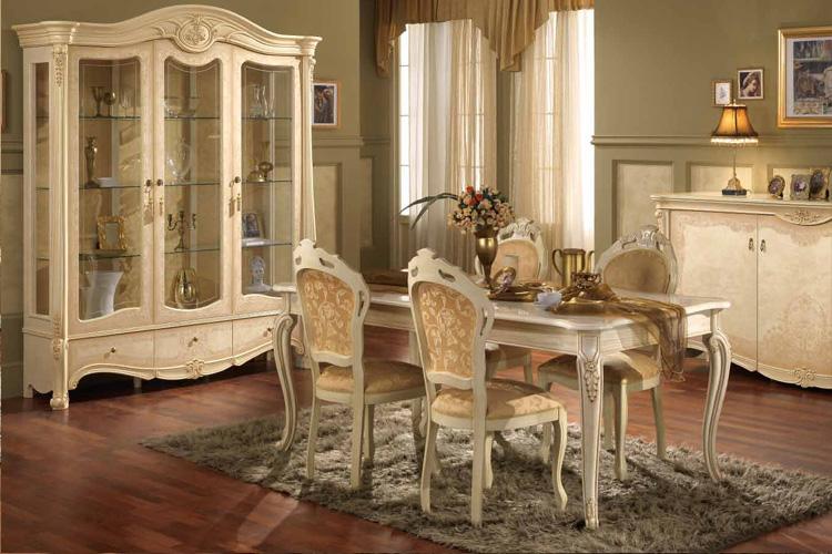 Mattglanz wohnen essen garnitur luxus stilm bel italien beige ivory lack schick ebay - Stilmobel italien ...