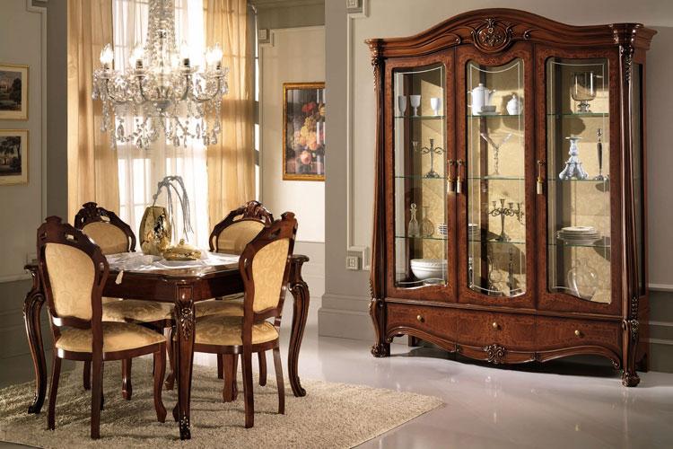 esszimmer komplett mini barock stilm bel italien klassik hochglanz top qualit t ebay. Black Bedroom Furniture Sets. Home Design Ideas