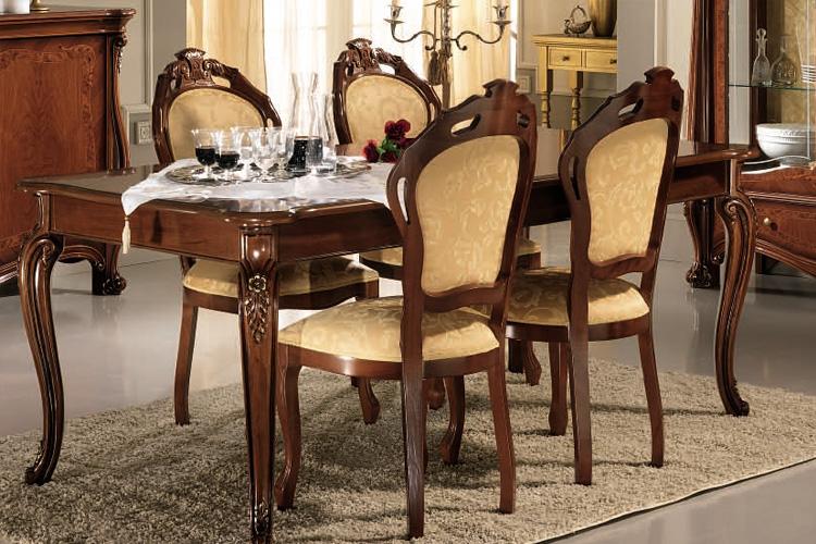 Esstisch Ausziehbar Stilmöbel Italienisch Klassik Hochglanz Top, Esszimmer