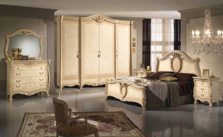 komplett schlafzimmer schrank bett kommode spiegel stilm bel italien hochwertig. Black Bedroom Furniture Sets. Home Design Ideas