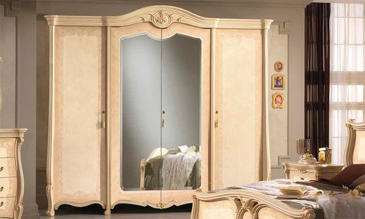 komplett schlafzimmer schrank bett kommode spiegel stilm bel italien hochwertig ebay. Black Bedroom Furniture Sets. Home Design Ideas