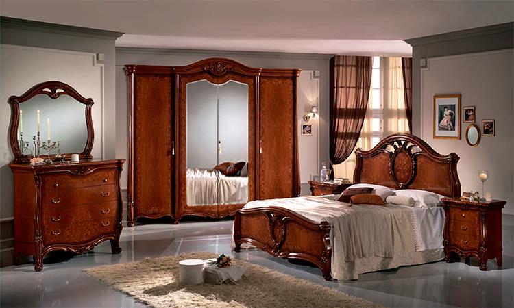 komplett schlafzimmer schrank bett kommode spiegel luxus stil klassik italien ebay. Black Bedroom Furniture Sets. Home Design Ideas