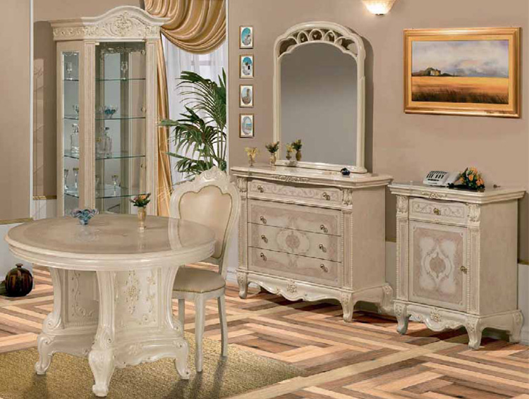 exklusive anrichte sideboard stilm bel italien hochglanz klassik barock ebay. Black Bedroom Furniture Sets. Home Design Ideas