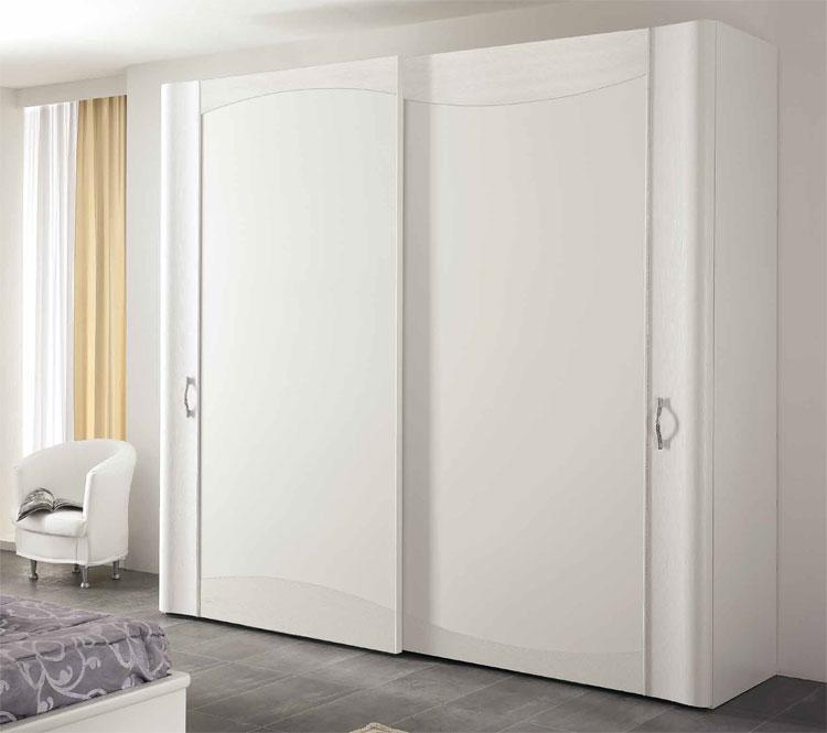 Schiebe Kleiderschrank Weiß : Luxus Diadema Kleiderschrank 2tr Massiv Weiß Furnier Italienische