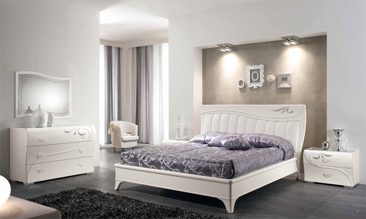 luxus schlafzimmer set furnier esche wei klassische italienische stilm bel ebay. Black Bedroom Furniture Sets. Home Design Ideas