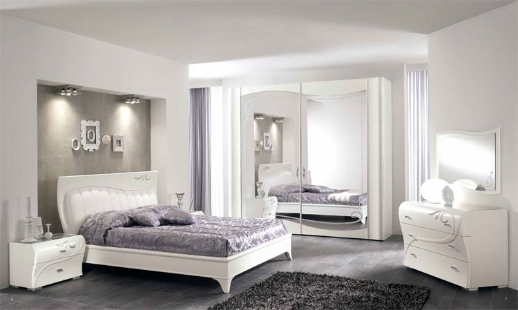 luxus schlafzimmer set massiv asche wei spiegelt r. Black Bedroom Furniture Sets. Home Design Ideas