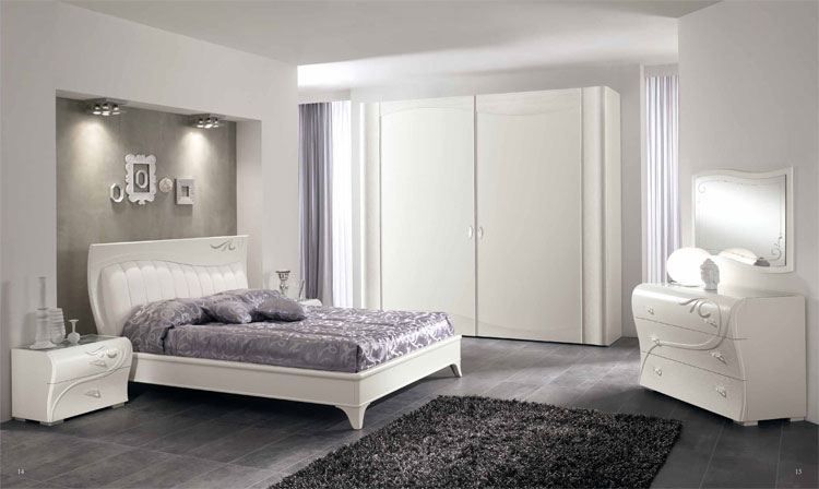 luxus schlafzimmer set esche furnier wei klassische. Black Bedroom Furniture Sets. Home Design Ideas