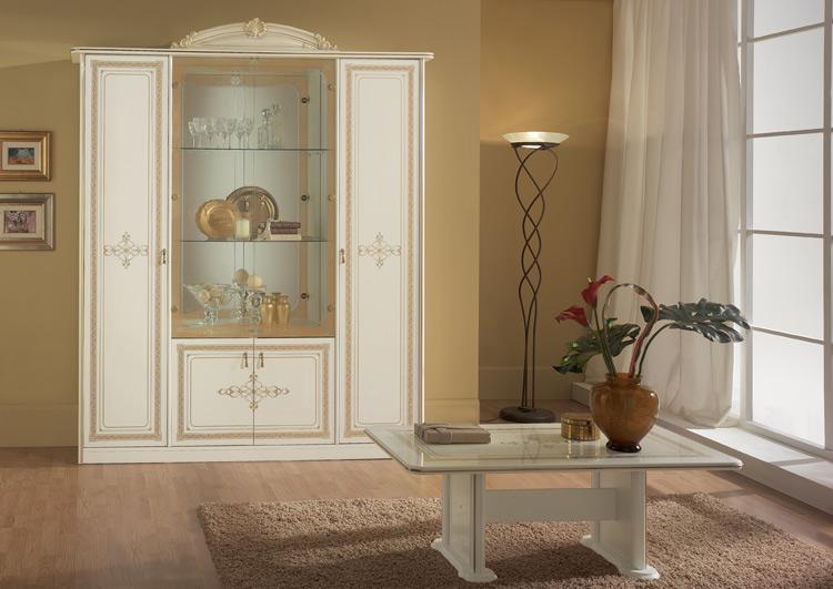Klassische glas vitrine 2tr stilm bel italien exklusive luxus hochglanz qualit t ebay - Stilmobel italien ...