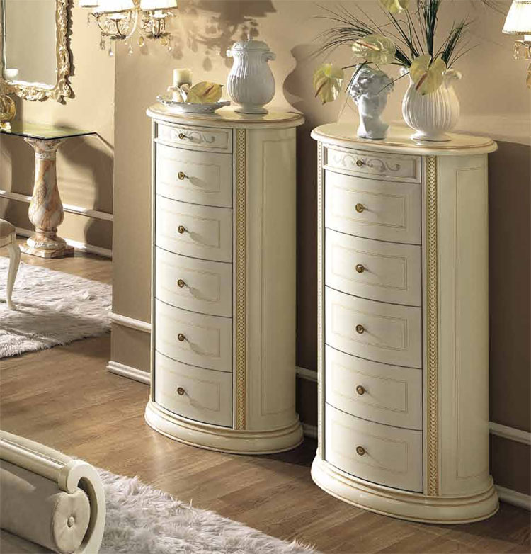 hochkommode dresser siena 6 schubladen romantik klassische stilm bel aus italien ebay. Black Bedroom Furniture Sets. Home Design Ideas