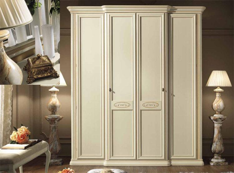 kleiderschrank siena avorio 5 tr 3 spiegelt ren linde stilm bel klassik italien ebay. Black Bedroom Furniture Sets. Home Design Ideas
