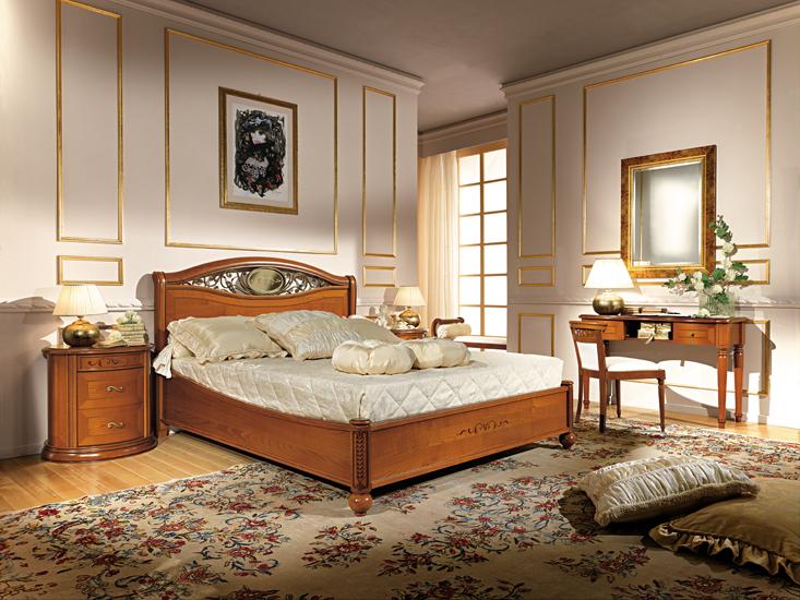 komplett schlafzimmer stilmöbel farbe kirschbaum italien luxus ... - Klassische Schlafzimmer Farben
