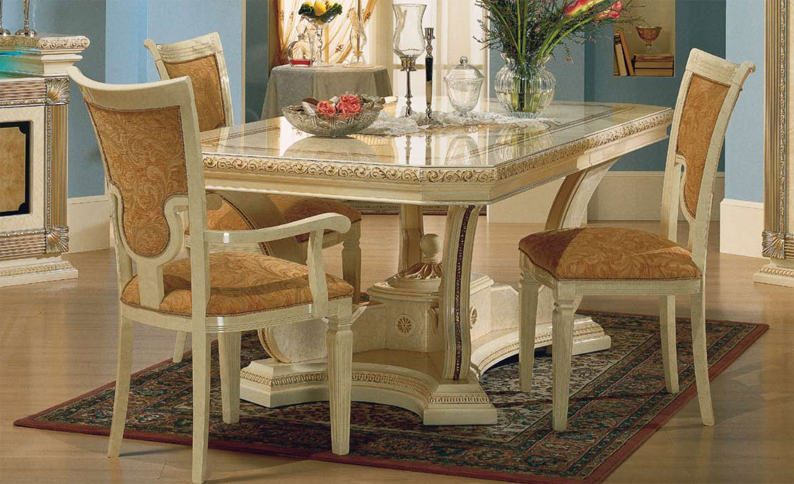 Design wohnzimmer esstisch spiegel sideboard stuhl klassik for Esstisch italian design