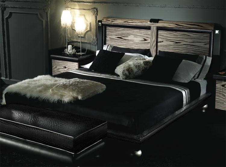 design luxus schlafzimmer set fancy leder stilmöbel italien ... - Doppelbett Luxus