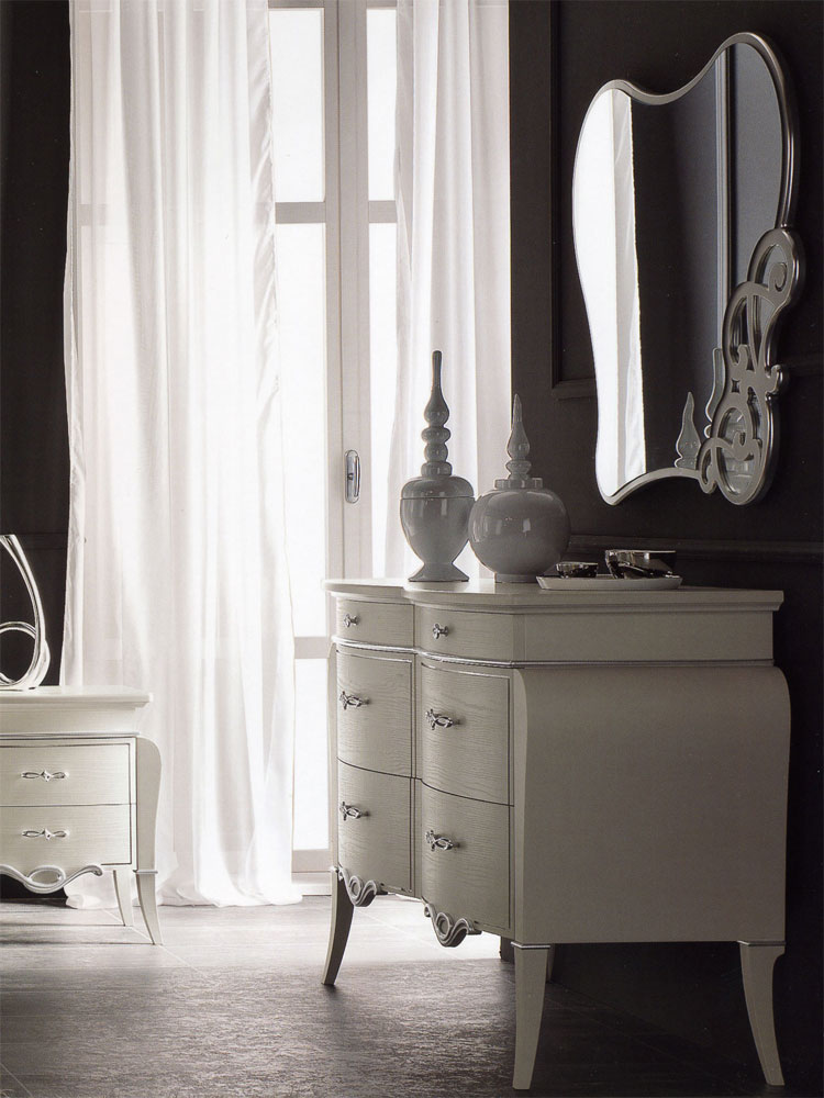 kommode spiegel fusion italia hochglanz klassik top. Black Bedroom Furniture Sets. Home Design Ideas