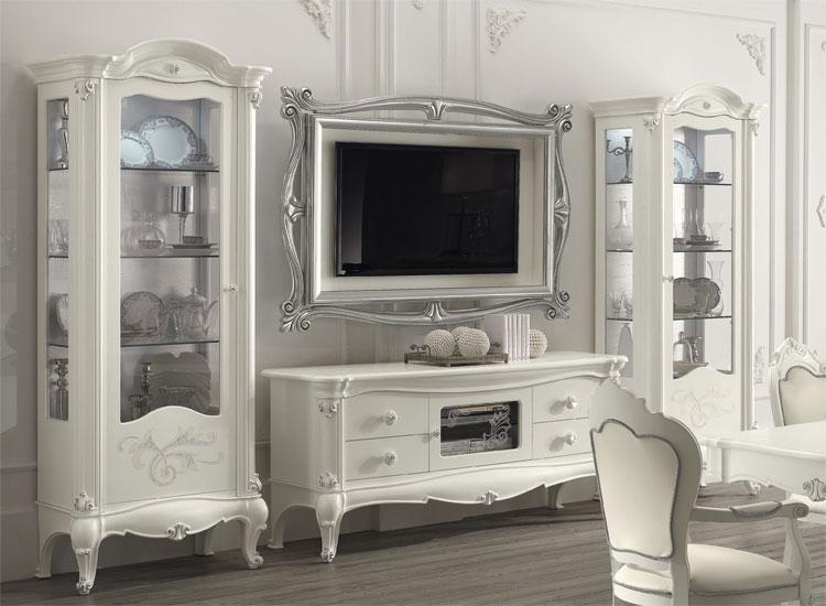 Luxus stuhl glamour mit armlehne milch wei stilm bel aus italien eco leder - Stilmobel italien ...