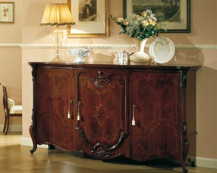 Sideboard buffet anrichte 3 tr nussbaum klassik stilm bel designerm bel italien ebay - Stilmobel italien ...