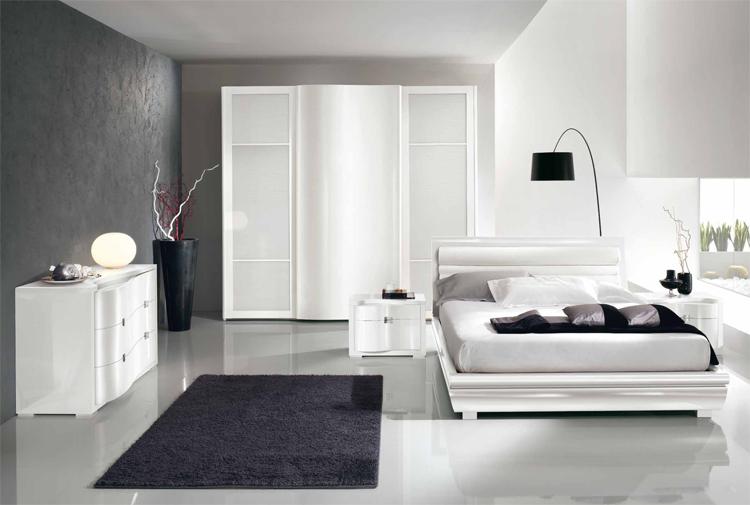 Gästezimmer modern luxus  Design Schlafzimmer Trendige Moderne Designermöbel Reinweiss Luxus ...