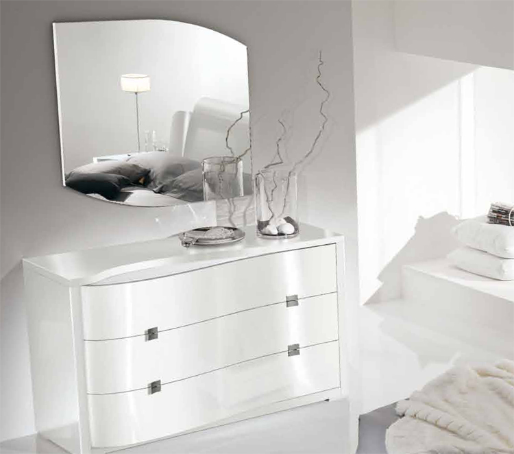 luxus exklusive moderne kommode m bel italien weiss milchwei design lack glanz ebay. Black Bedroom Furniture Sets. Home Design Ideas