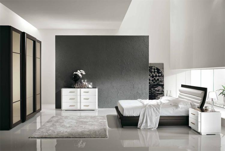 Komplett Luxus Stilmöbel Italien Schlafzimmer Eco-Leder Weiß Braun ...