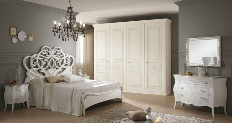 luxus schlafzimmer set massiv holz blattgold klassische italienische stilm bel ebay. Black Bedroom Furniture Sets. Home Design Ideas