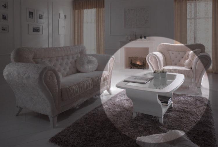 Luxus Beistelltisch Couchtisch Esche Weiß Holz Klassische