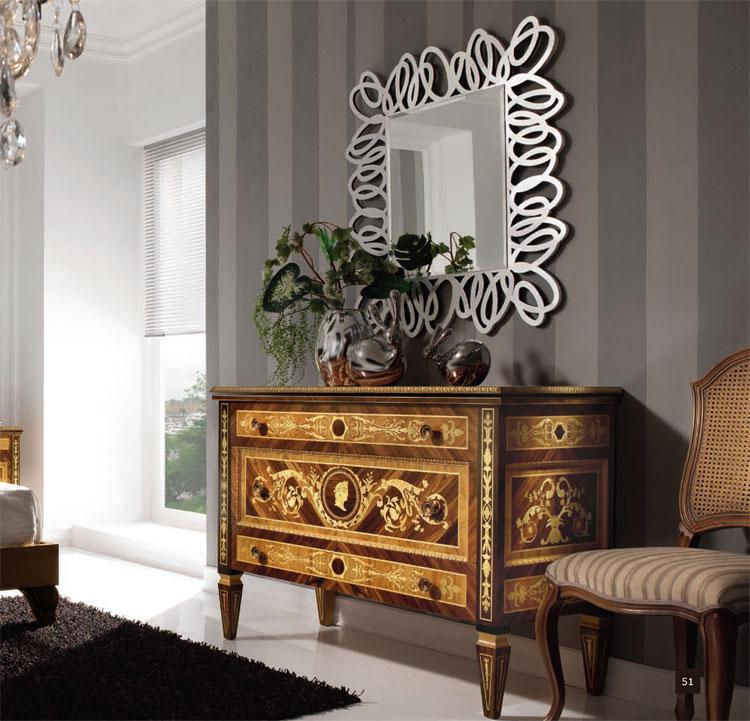 Luxus schlafzimmer set handmade edelholz furnier inlay for Kommode 90x100