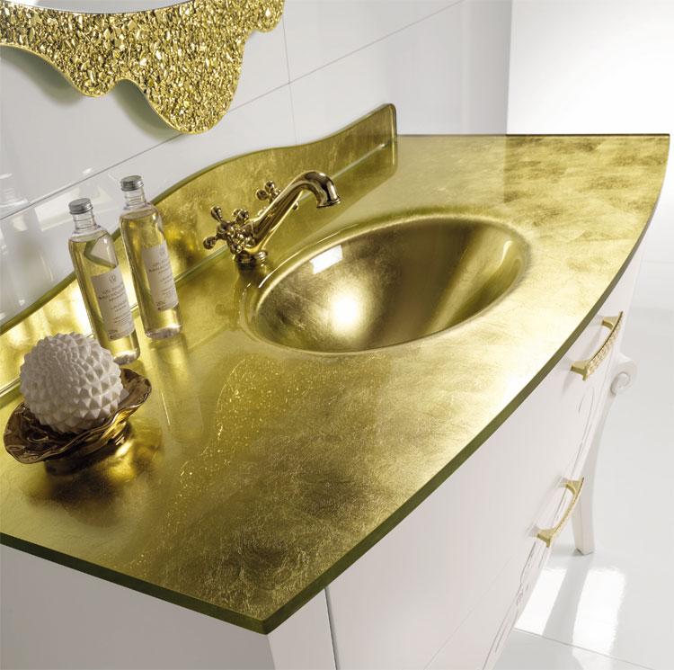 Luxus badm bel set margot mahagoni furnier klassische - Italienische designer wandspiegel ...