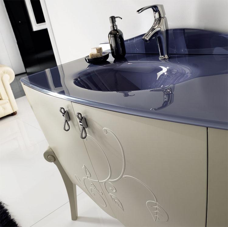 Badm bel set margot farbe glicine violett furnier - Italienische designer wandspiegel ...