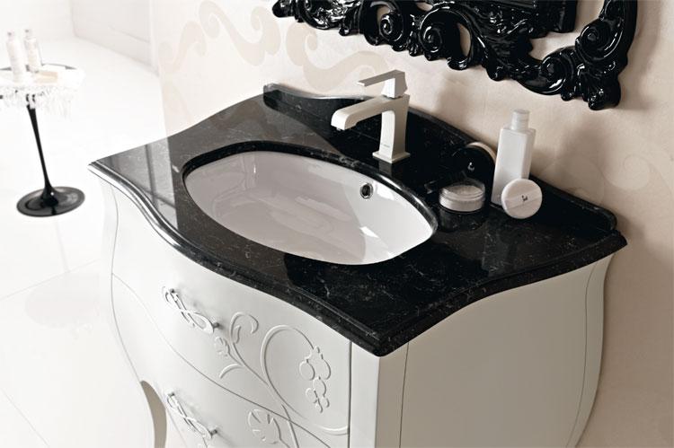 Waschbecken Unterschrank Metall : Luxus Waschbecken+Unterschrank 123cm Gold Schwarz Furnier Italienische