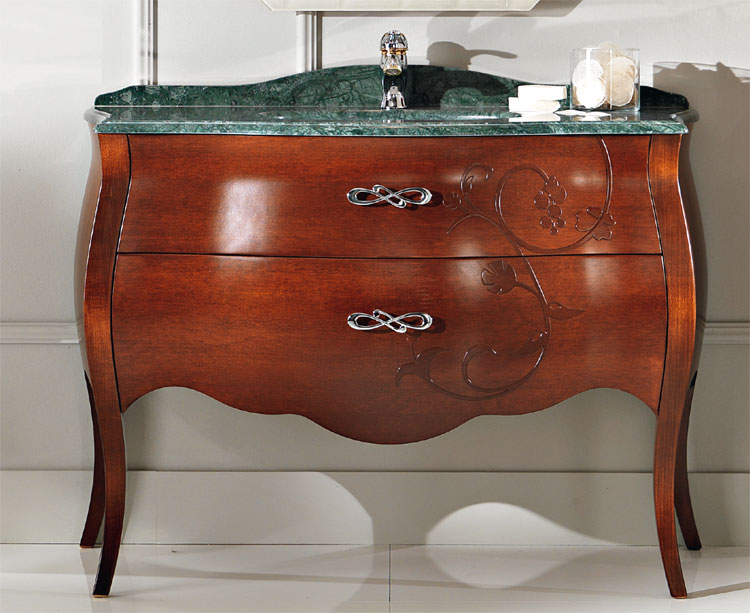 luxus badm bel waschbecken unterschrank 123cm mahagoni marmor stilm bel italia ebay. Black Bedroom Furniture Sets. Home Design Ideas