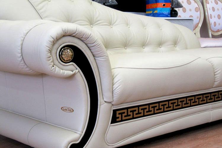 Luxus ledercouch  Exklusive Sofa Beige Leder Couch Sessel Echtleder Garnitur Möbel ...
