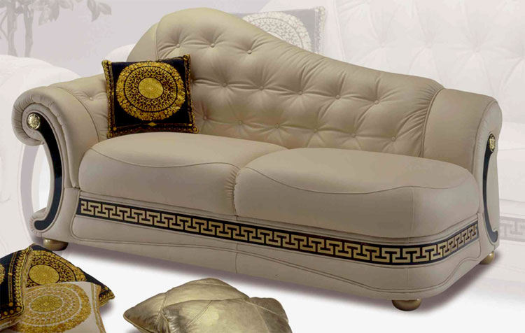 exklusive sofa rekamiere dormeuse echtleder garnitur m bel italien luxus vip ebay. Black Bedroom Furniture Sets. Home Design Ideas