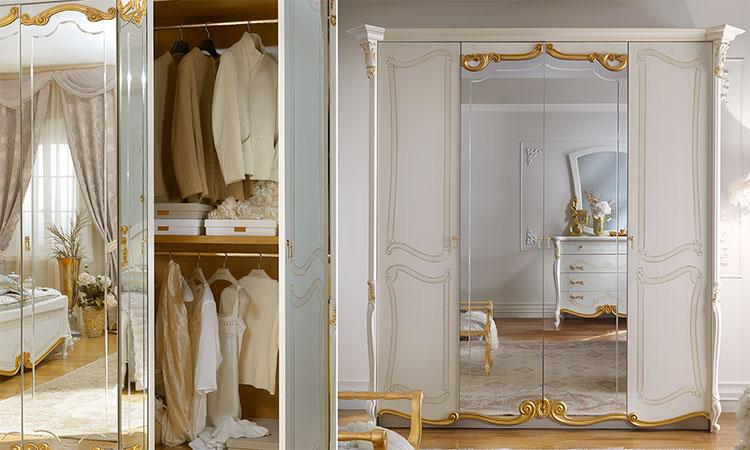 luxus kleiderschrank schlafzimmer la fenice beige gold. Black Bedroom Furniture Sets. Home Design Ideas