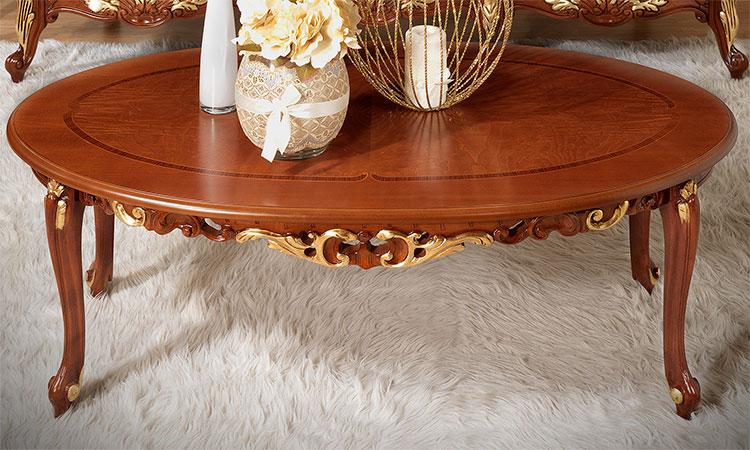 Luxus couchtisch la fenice edle eleganz nussbaum for Luxus couchtisch